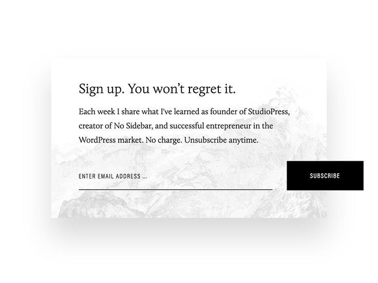 Best 25+ Newsletter signup ideas on Pinterest | Form design ...