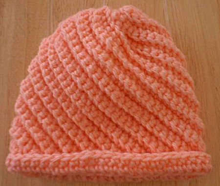 Crocheted Baby Swirls Hat Pattern