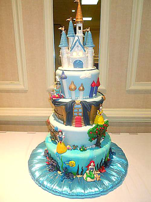 disney princess cake. I need to have a little girl.
