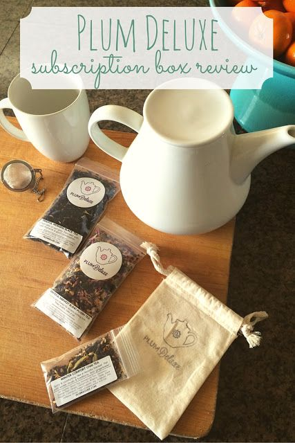 """Aww, thanks, Plan to Happy, for the review - and what a lovely image of our tea! -->""""Plum Deluxe is the perfect monthly subscription box for women or men who love tea."""""""