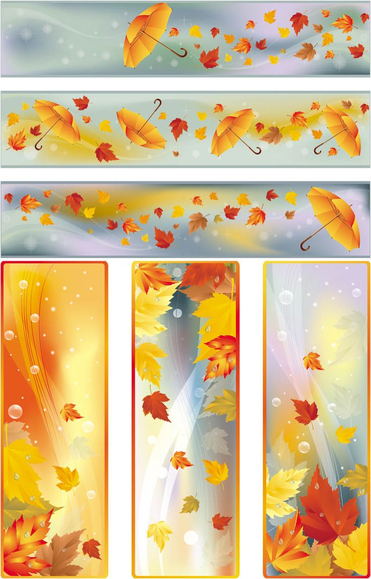 FALL LEAVES BANNERS VECTOR
