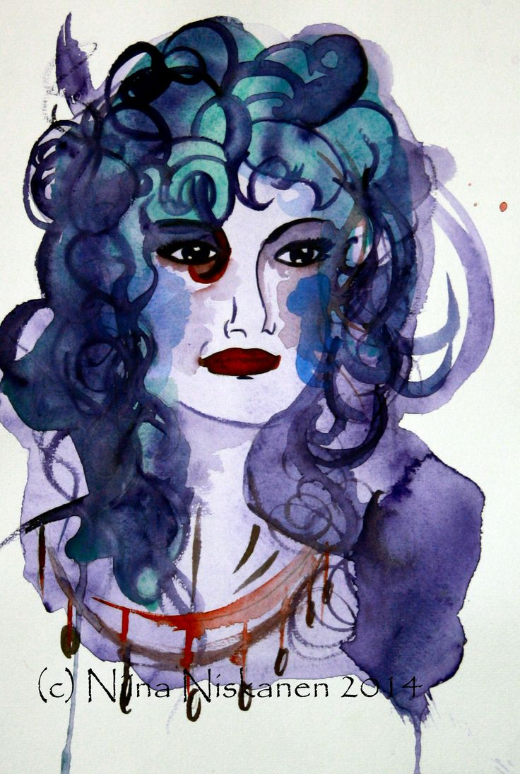 """Queen of anything"" (c) Niina Niskanen Aquarell painting"