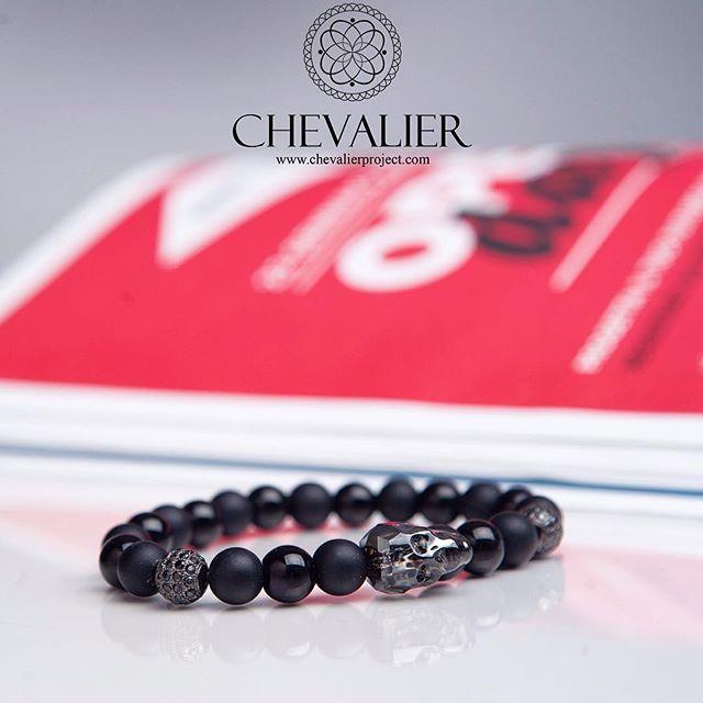 Chevalier Swarovski Skull Nero Made with onyx, matte onyx, CZ Diamonds and authentic Swarovski skull  Check it out at Chevalier! Link in bio We…