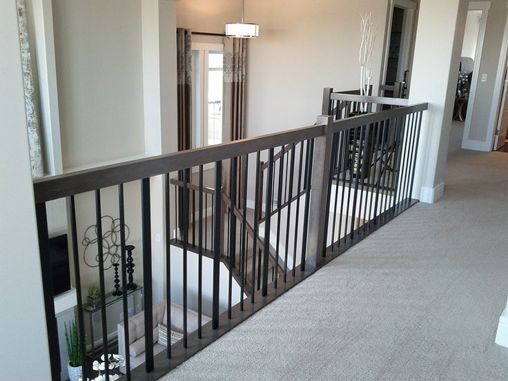 Metal baluster system modern staircase foyer pinterest