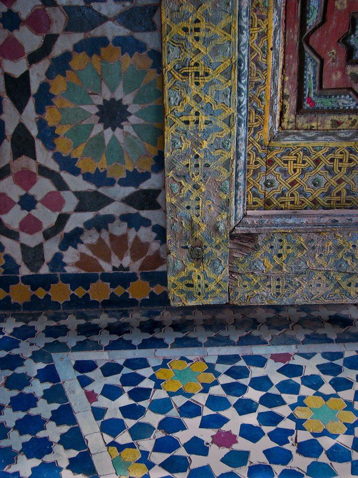 Moorish design at Telouet kasbah Morocco