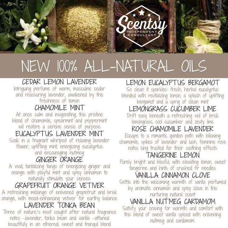 Scentsy Essential Oils: Whether you select simple, single-note Essential Oils or more complex 100% Natural Oils or Essential Oil Blends, Scentsy Oils infuse your space with artisanal, natural fragrance. Designed for use in a Scentsy Diffuser.