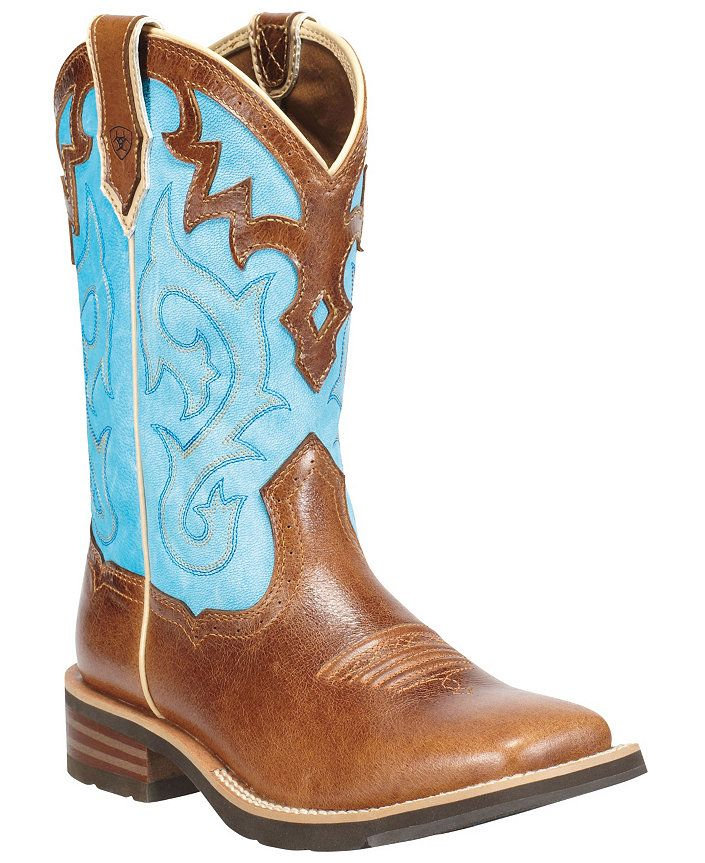 Ariat Unbridled Blue Cowgirl Boots - Square Toe