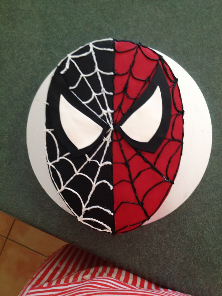 Black spiderman cakes - photo#35
