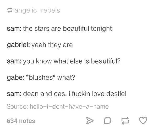 Supernatural; Destiel