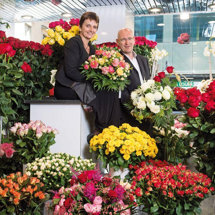 Fred et Beni Lovink ont ouvert la première boutique dédiée uniquement aux roses à Genève sous le nom de Rosolo perfect Roses. © Lionel Flusin