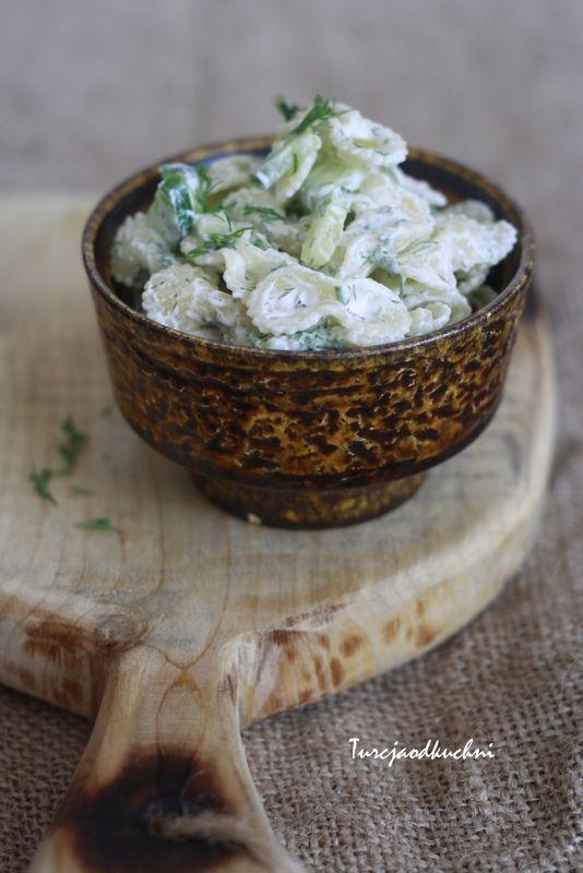 Turcja od kuchni: Sałatka z ogorkiem i makaronem