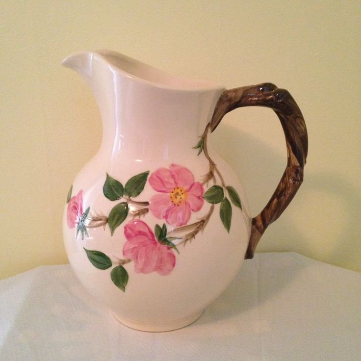 Franciscan Desert Rose 64 oz PITCHER / 1940's USA / Mint / Old Franciscan Ware / China Replacement by ThePinkVintageRose on Etsy