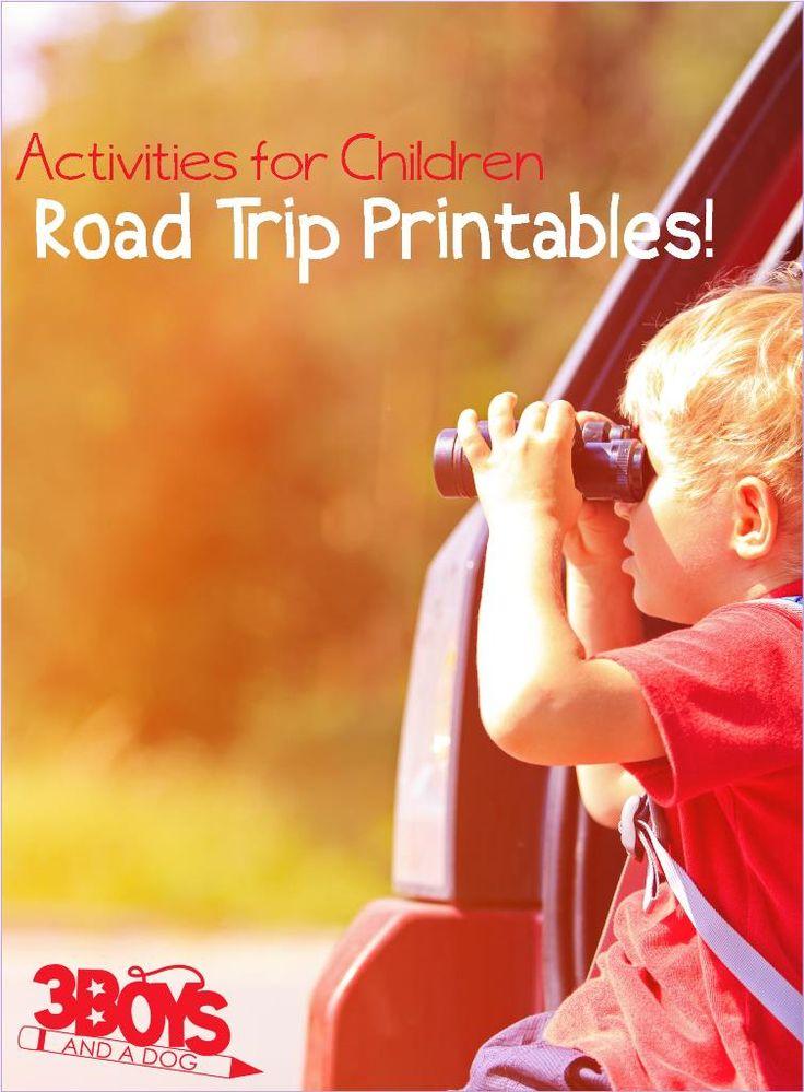 Road Trip Printable Activities for Kids
