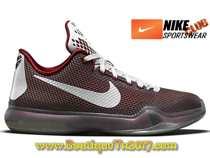 "Nike Kobe 10 ""Chester"" Chaussures Nike Basket Pas Cher Pour Homme Noir Rouge 726067-600"