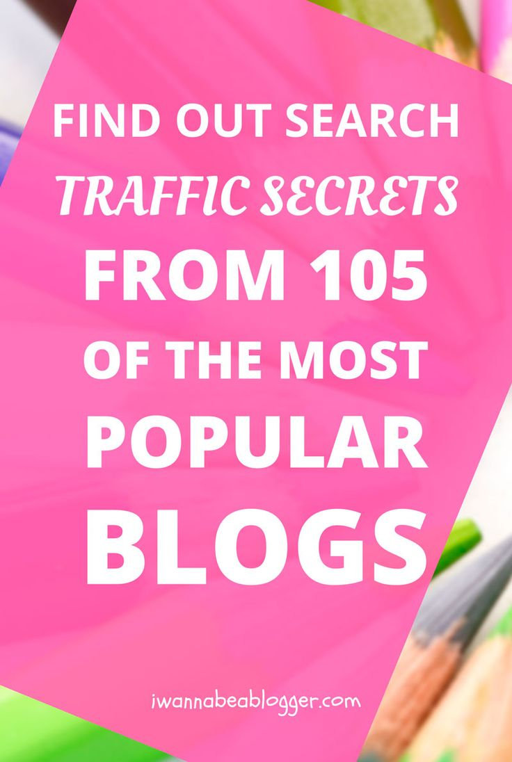 Find Out Search Traffic Secrets from 105 of the Most Popular Blogs and Find Your Easy Keywords