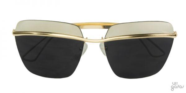 Óculos De Sol Quadrado Grande Inspired Com Lente Superior Espelhada    Ui! Gafas