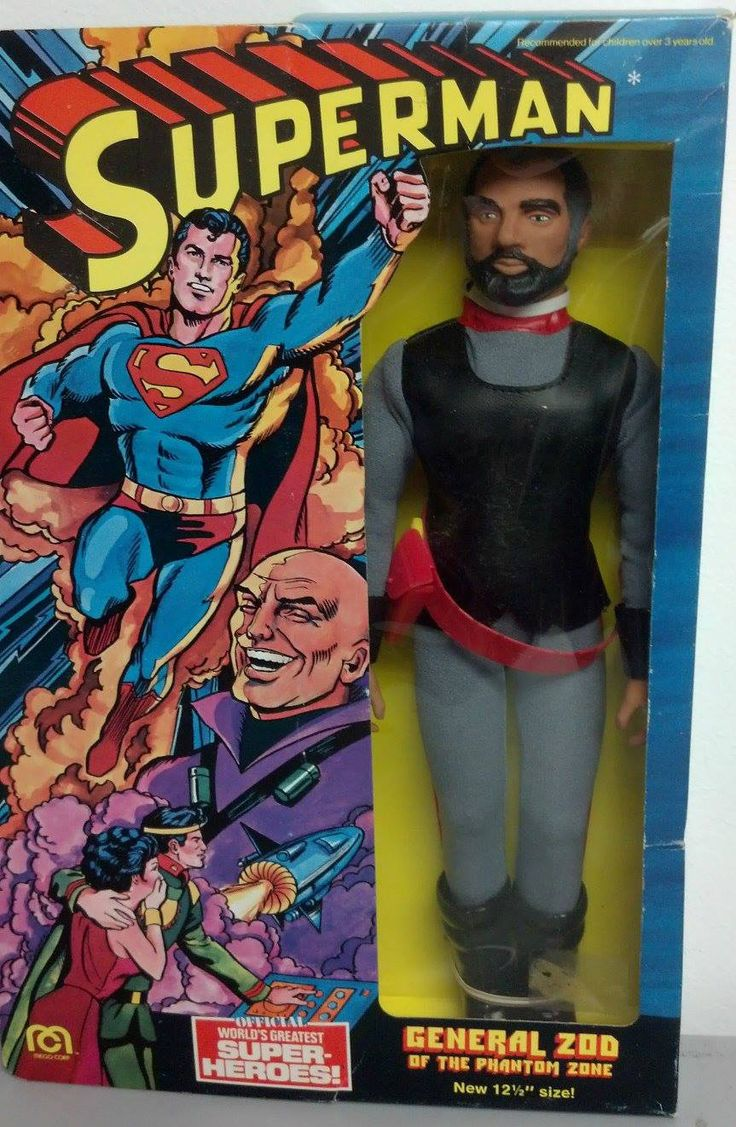 1977 General Zod (Superman - World's Greatest Super-Heroes) 12 & 12 action figure by Mego