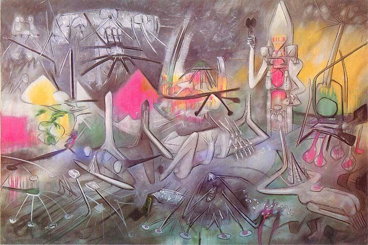 """MATTA - """"Le Prophéteur"""" 1954 (54/2) 199 x 295 cm."""