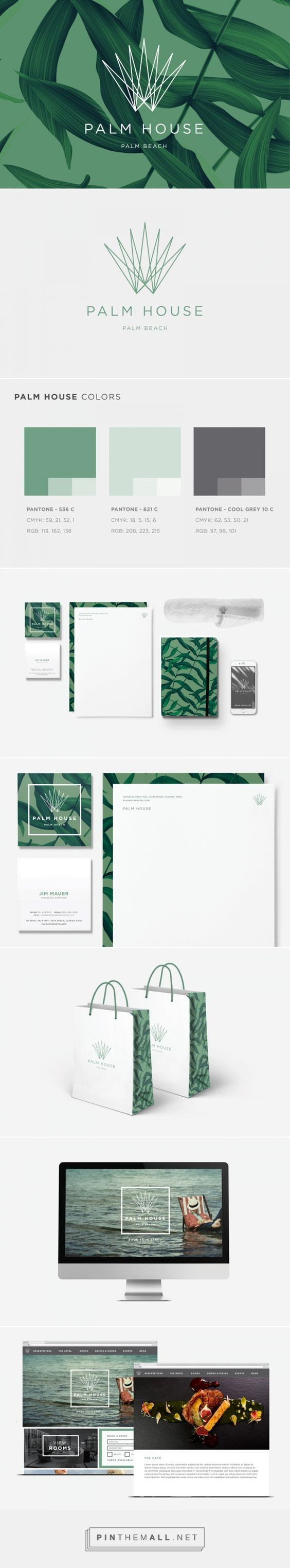 Palm House Restaurant Branding on Behance