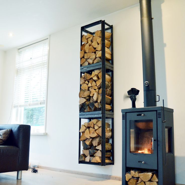 The Woodstack Firewood Holder is made of iron. Woodstack Triple consists of THREE racks and are each: 72 cm high 26,5 cm deep (innersize 20 cm) 43,5 cm wide Powder coated black iron Woodstack Firewood Holder can be linked together horizontally- or vertically. Can be used free standing or screwed tothe wall. Create the woodshed [...]