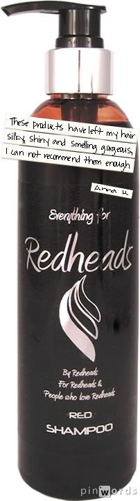 Red Shampoo Review: I have natural strawberry blonde hair currently dyed extreme red so I was looking for a product to help ease the pain of fading while allowing my hair to have different tones so this product was ideal.  It smells divine, like the sweet smell of summer, a mixture of sweet strawberries and spicy aromatic elderflower and they came in a brilliant pump top bottle handy for saving every last drop.