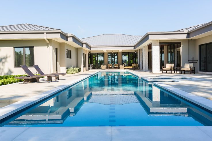 U Shaped House Plans With Pool Great Pin For