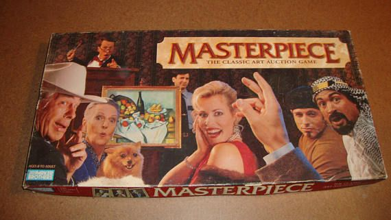 1996 Masterpiece Family Board Game Vintage Parker Brothers Art