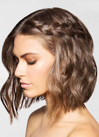Short hair is perfect for beating the heat during this spring and summer. Add some light curls and a braid to add a little spice to you hairdo