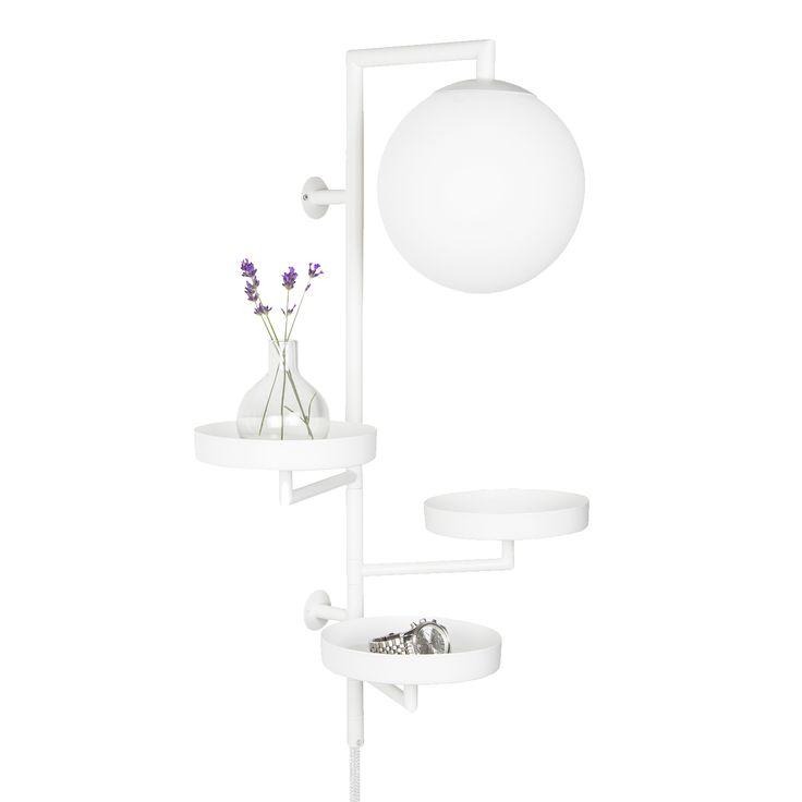Astoria vegglampe, hvit i gruppen Belysning / Lamper / Vegglamper hos ROOM21.no (1030806)