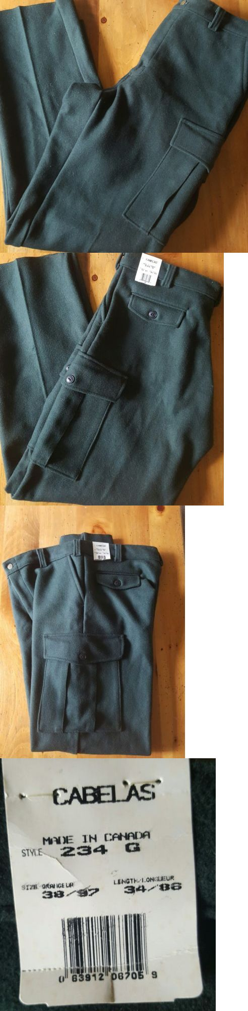 Pants and Bibs 177873: Cabelas Men S Wool Hunting Pants New With Tags Green 38X34 -> BUY IT NOW ONLY: $65 on eBay!