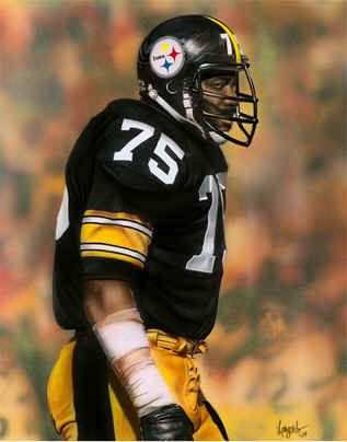 Joe Greene #75 Pittsburgh Steelers NFL Football Art Print