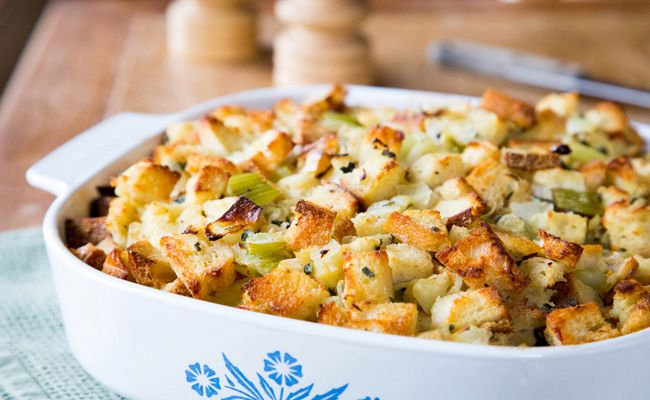 stuffing for thanksgiving - Fall Eats: Super-Simple Stuffing You Can't Mess Up