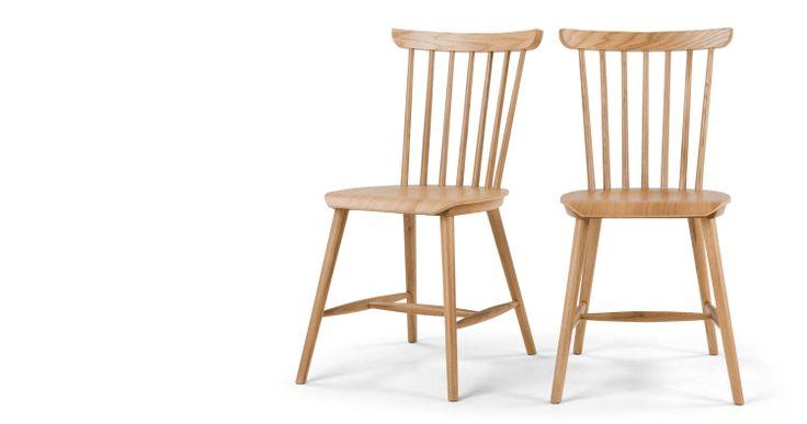 2 x Deauville Esszimmerstühle; Eiche | MADE.COM