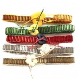 Conjunto cinco pulseiras de tear