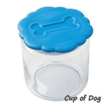 """Pot à friandises pour chien """"light blue"""" United Pets https://www.cupofdog.fr/gamelle-friandise-chihuahua-petit-chien-xsl-353.html"""