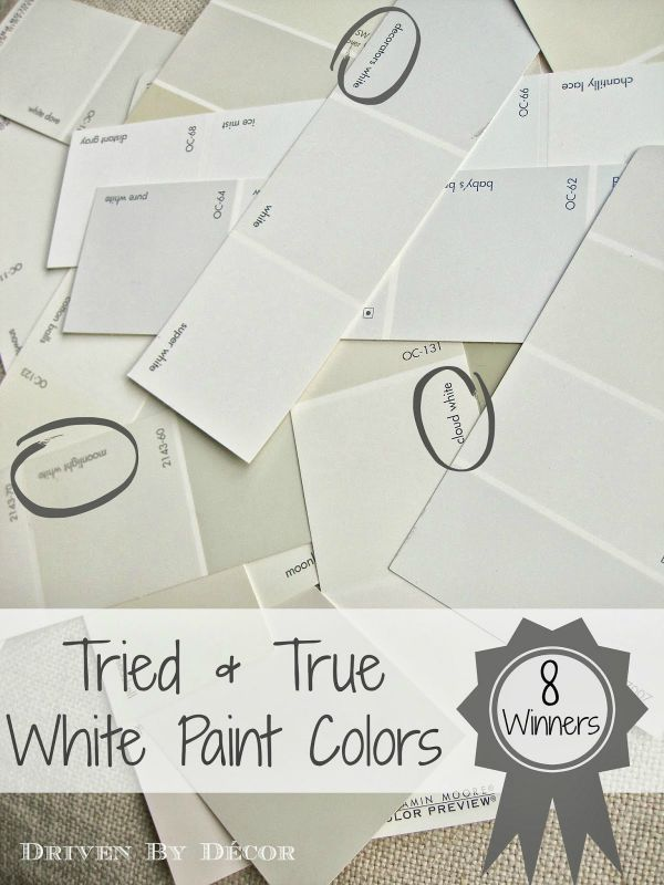 Searching for the perfect white paint color? Out of the sea of hundreds of whites, I've narrowed it down to eight tried-and-true winners!