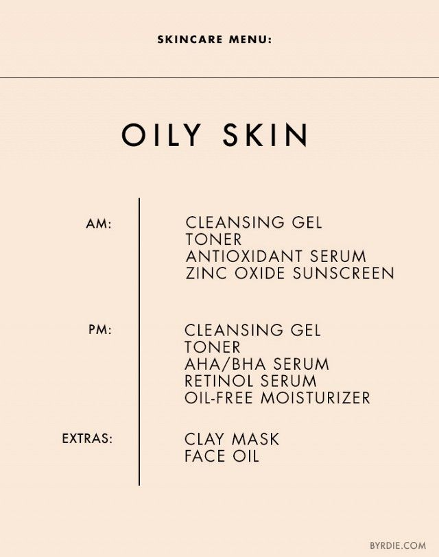 The+Ultimate+Daily+Skincare+Menu+for+Every+Skin+Type+via+Byrdie Beauty