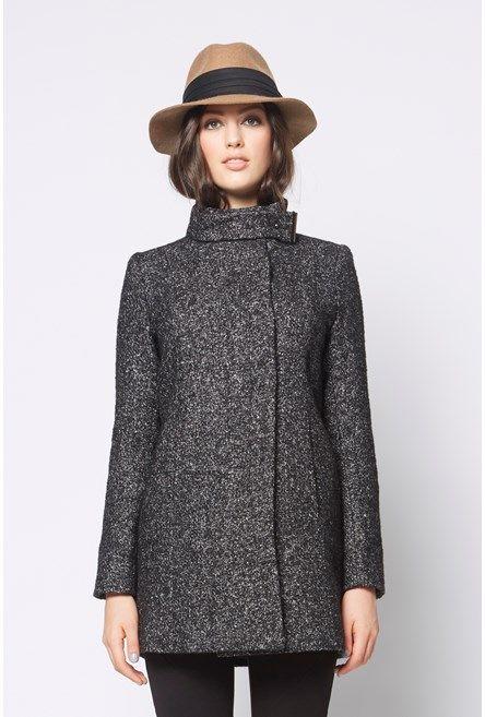 Speckle+Funnel+Coat+ #NewandNow