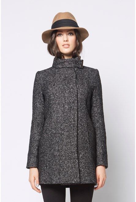 Speckle+Funnel+Coat+ #NewandNow
