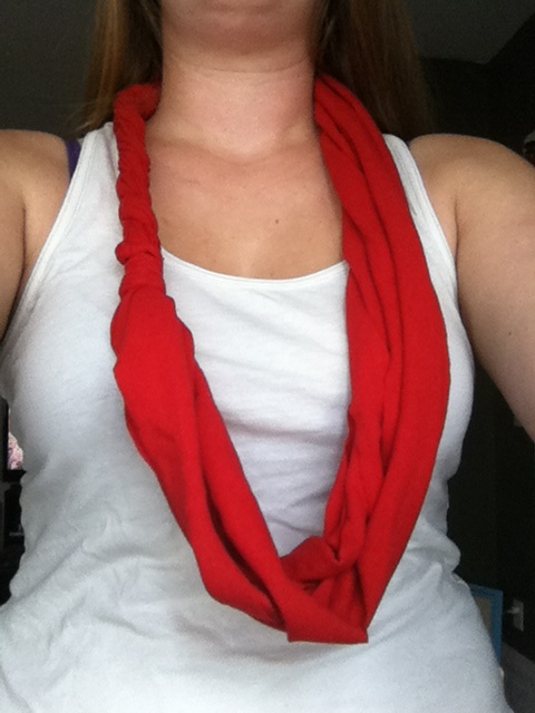 Another old tshirt turned into braid scarf