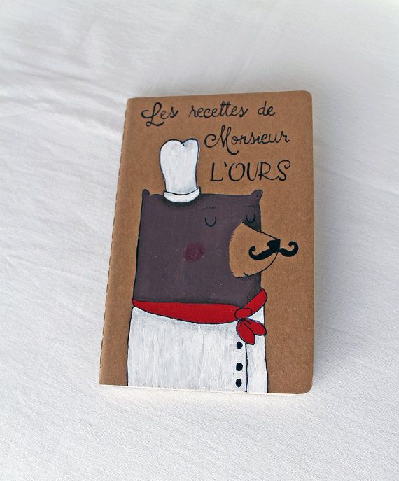 Love this hand-illustrated Moleskine recipe book