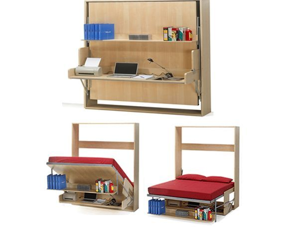 33 best images about space saving furniture on pinterest for Space saving bed solutions