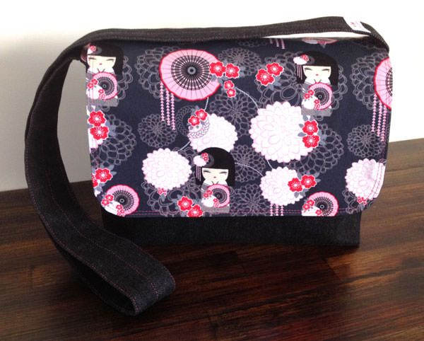 Good-To-Go Messenger Bag - free pattern by Andrie Designs bag patterns  Paper and PDF bag patterns  Handmade bag  Free bag pattern