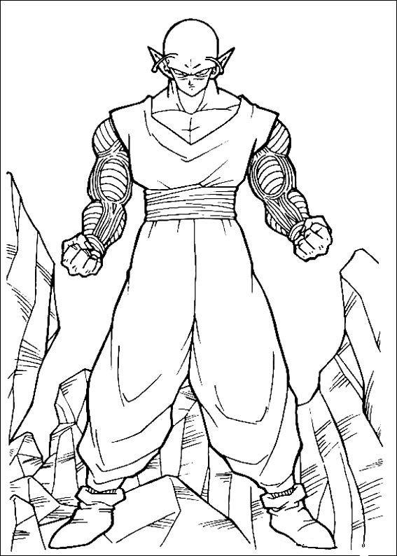 Dibujos Para Colorear De Dragon Ball Z Piccolo 03 Pajarito