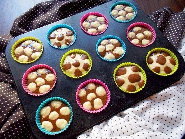 Кексы в горошек