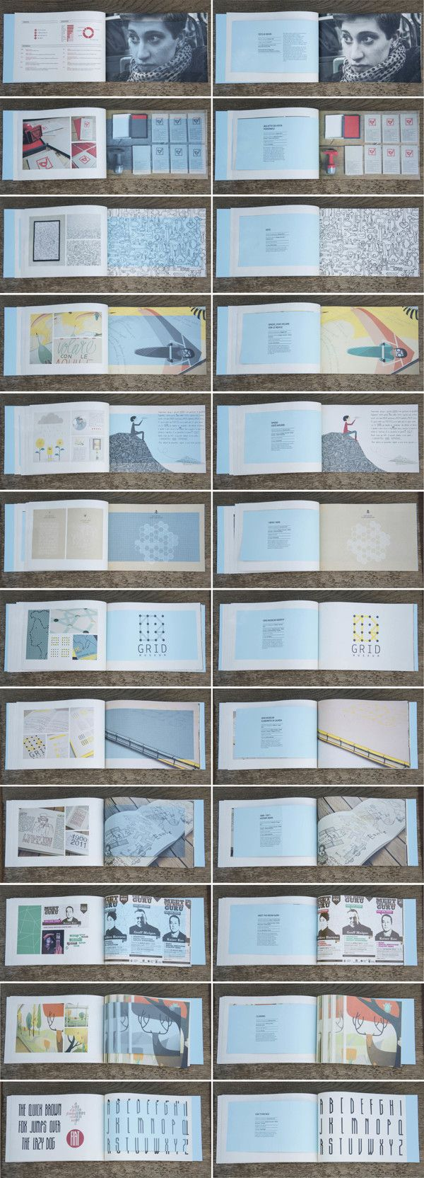 Personal Portfolio by Cecilia Negri, via Behance