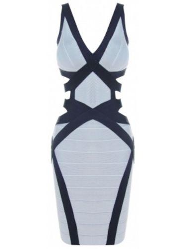 Sexy Blue Cut Out V Neck Bandage Dress . Shop now at :  http://misscircle.com/Dresses/Bandage-Dress/Sexy-Cut/Sexy-Blue-Cut-Out-V-Neck-Bandage-Dress.html