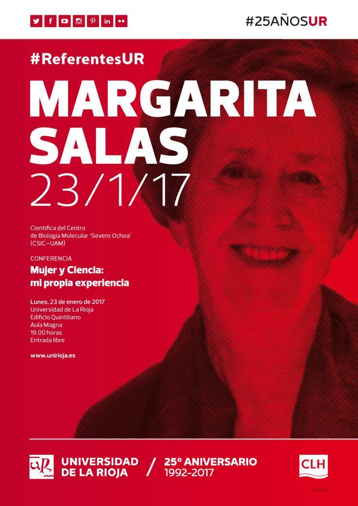 Margarita Salas abre el ciclo #ReferentesUR el lunes 23 #25AñosUR
