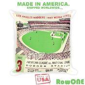 1963 LA Dodgers Retro Ticket Pillow by Row One™
