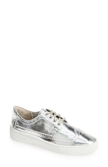 MICHAEL Michael Kors 'Piers' Sneaker (Women) Silver Size 7 M - $125 on Vein - getvein.com